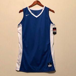 Nike Dri-Fit Basketball Jersey Blue L